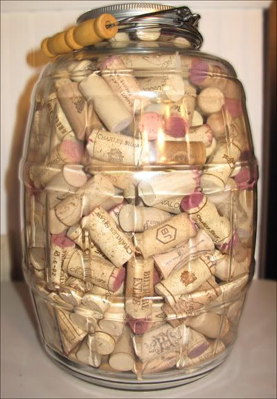 Guess the number of corks in the jar... party game.. for a wine and cheese party.. winner gets a bottle of wine