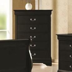 Louis Philippe 5 Drawer Chest