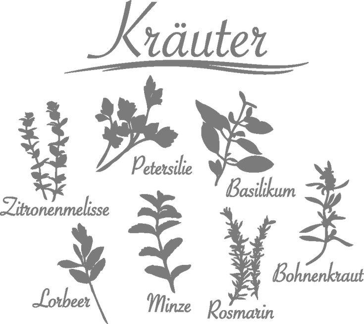 Wandtattoo Kräuter Wandtattoos Küche & Genuss Gewürze & Kräuter