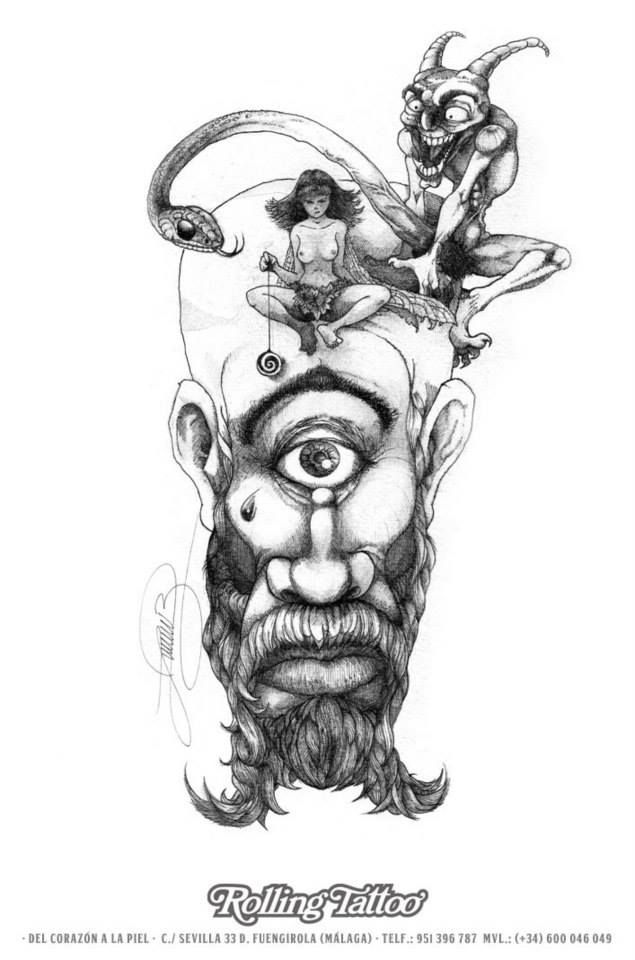 Ilustración de Javier Jiménez, tatuador de Rolling Tattoo Studio (Fuengirola) | Ilustration made by Javier Jiménez, tattoo artist at Rolling Tattoo. | Rolling Tattoo Studio 2013 Copyright. Todos los derechos reservados. | All Rights Reserved.