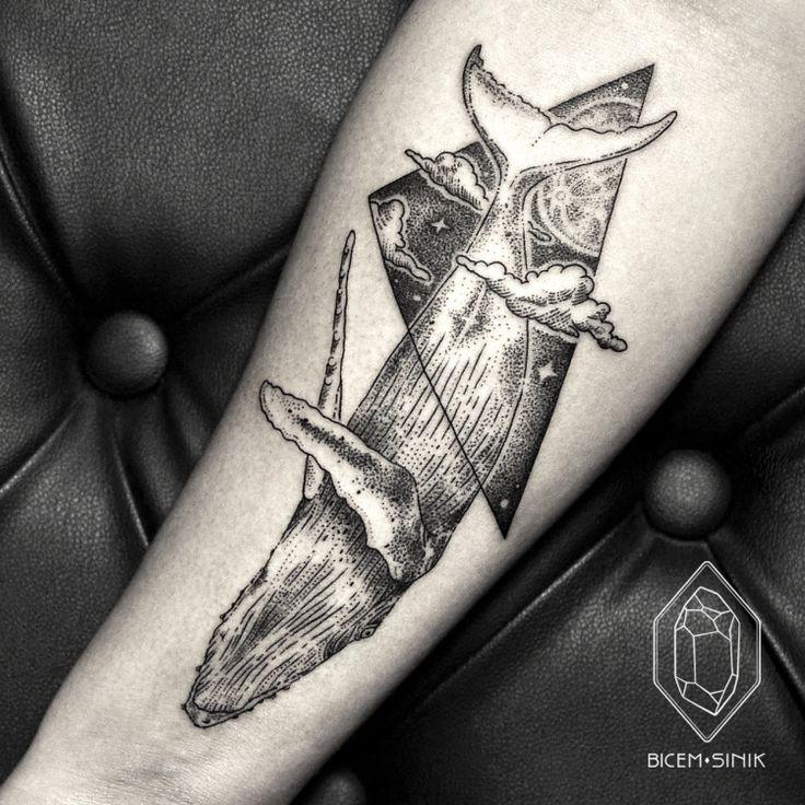 whale tattoo by Bicem Sinik