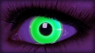 Rave Green Contact Lenses on ExtremeSFX.com