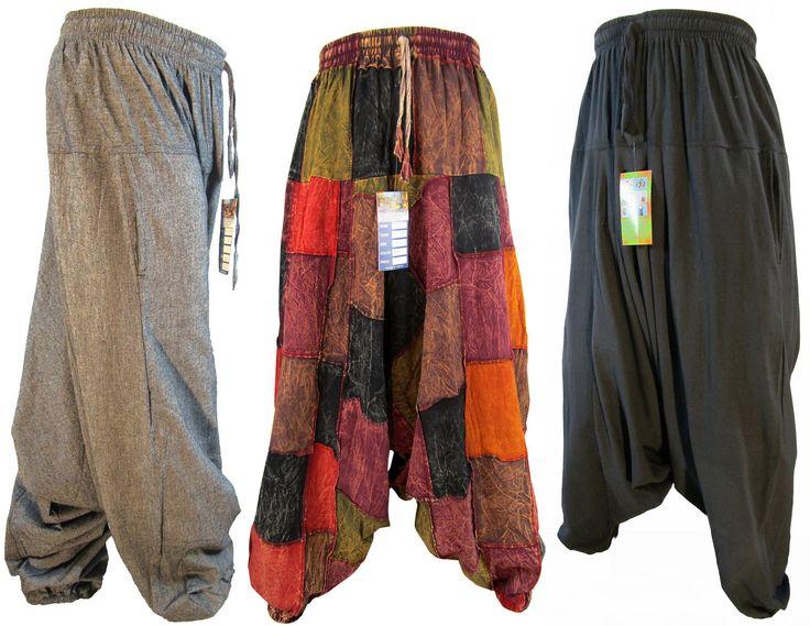 Mens Vintage Hippy Boho Aladdin Harem Wideleg Ninja Pants Trousers Cotton   eBay