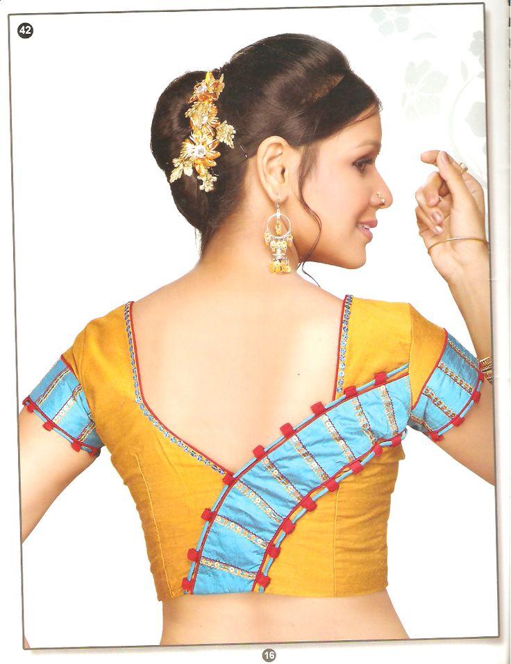 Latest Blouse Back Neck Designs Images, Anjali Blouse Back Design Pics | Latest Fashion and Technology