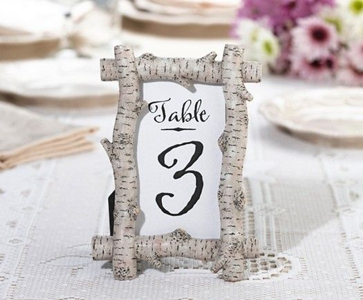 lillian rose rustic birch tree branches frametable number holder gifts and party