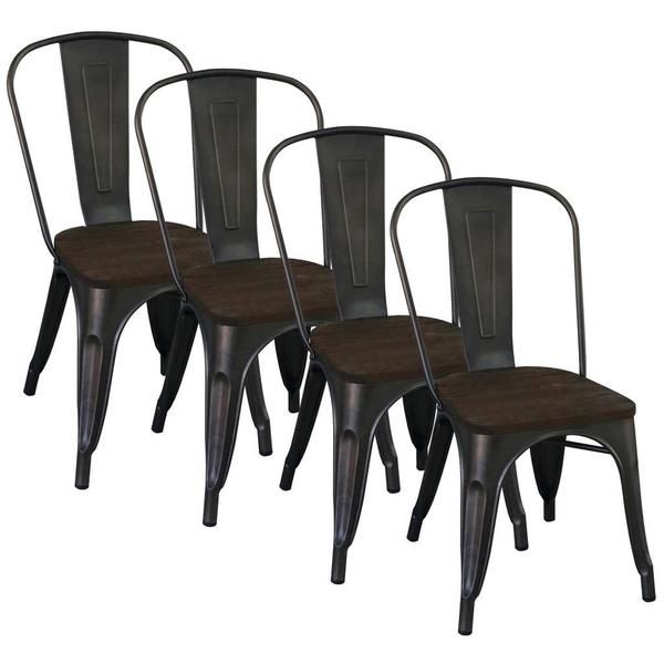 Superior Modus Gunmetal Side Chair (Set Of 4) $370