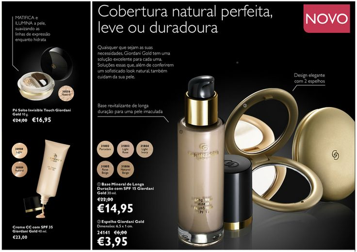 makeup #maquilhagem base #face #giordani #gold #oriflame #mirror #espelho #cosmeticos