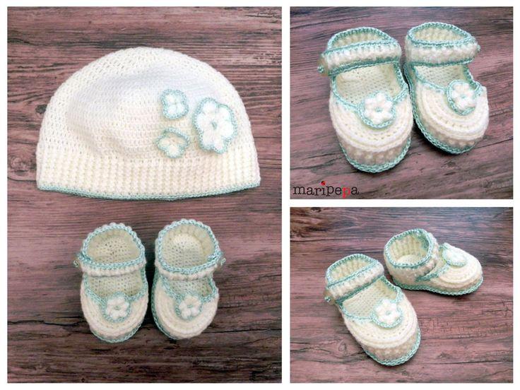 maripepa - Gorrito y patucos para recién nacido