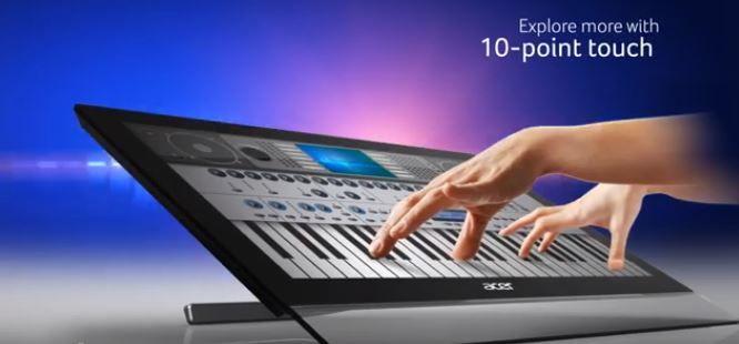 Acer T272HUL monitor multitáctil de 27 pulgadas