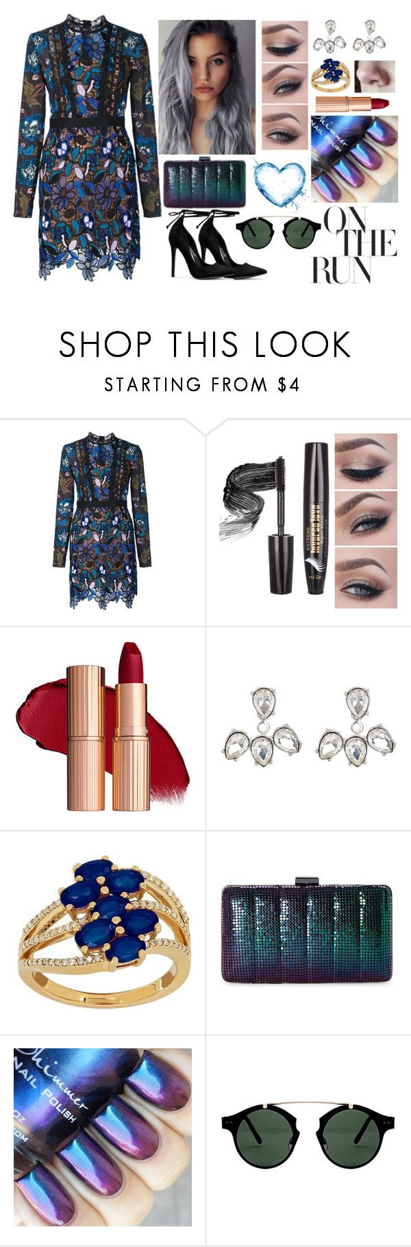 """Somebody New"" by blackveilwidow ❤ liked on Polyvore featuring self-portrait, Kenneth Jay Lane, Lord & Taylor, Jessica McClintock and Spitfire"