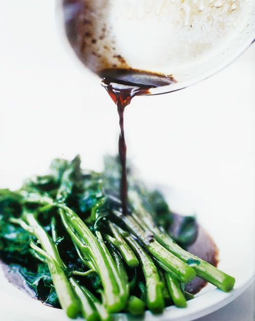 Broccoli Rabe Recipe with Balsamic Brown Butter (This quick broccoli rabe recipe with balsamic brown butter is on the table in 15 minutes and tastes so rich you'll forget you're eating something healthy.)