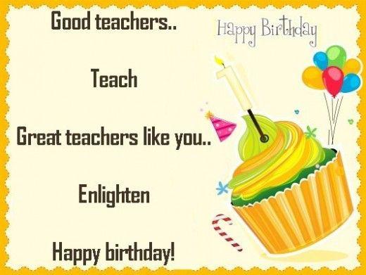 Birthday card for a teacher