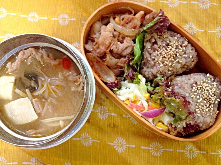 ピリ辛肉豆腐とお弁当