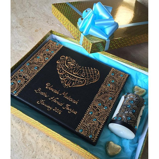 #mulpix Umrah Mubarak boxed gift in blue and black  #umrah #umrahgift #umrahmubarak #pilgrim #pilgrimage #henna #hennaart #hennacandle #hennacanvas #bow #blue #personalised #personalisedgift #gems #gift #giftidea #allah #muslim #muhammad #kalma #firstkalma #shahada #heart #heartchocs #giftbox #love #family #friends