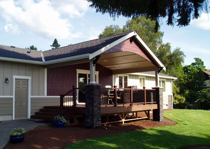 Lexar Homes Covered Porch With Built In Bbq Bar And