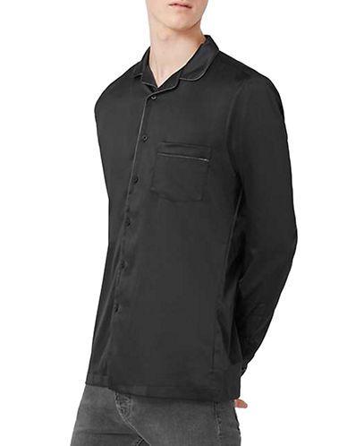 Men | Men  | Pyjama-Style Button-Up Shirt | Hudson's Bay