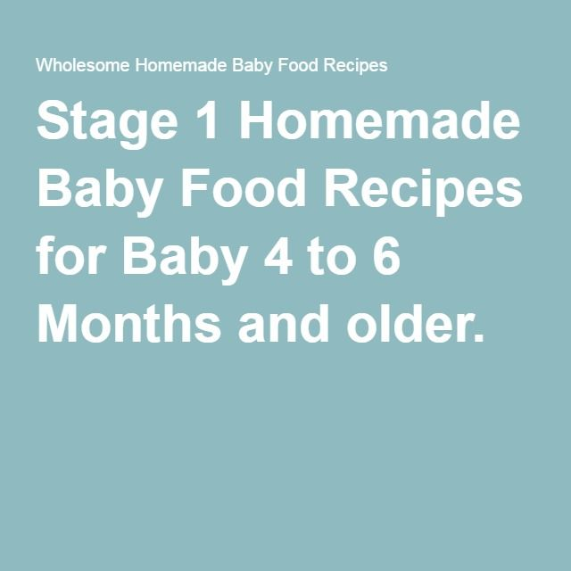Baby Food Recipes Nz Stage