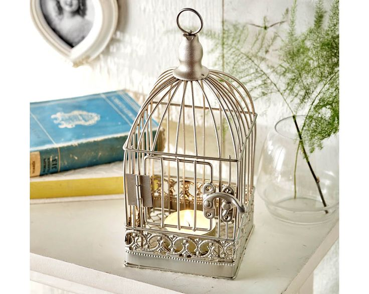 Bird Cage Tea-Light Holder £7  Intricate bird cage tea light holder with real working clasp. H20 x W9 x D9cm   KLife Kleeneze Home Bedroom Living Room Lounge