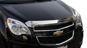 chrome wind guards for 2014 Chevy Equinox | ... 2011-2012 Chevy Equinox EGR CHROME Bug Shield Hood Guard protector