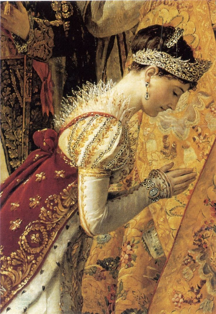 Empress Josephine.  Close-up from the David portrait of the coronation.