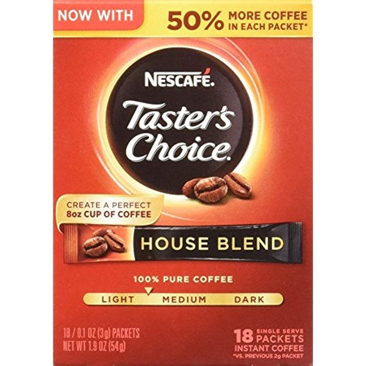 Nescafe Instant Coffee Taster's Choice Coffee, House Blend Pack 8 Fast Shipping  #Doesnotapply