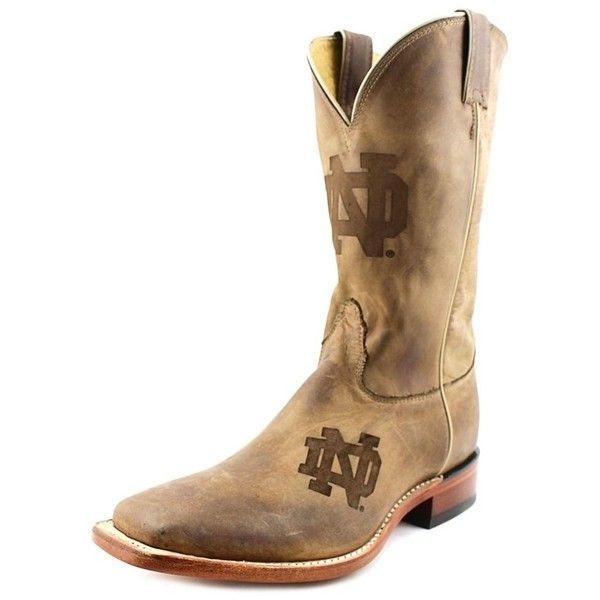 Nocona Nocona Notre Dame Branded Men Square Toe Leather Western Boot  ... ($192) ❤ liked on Polyvore featuring men's fashion, men's shoes, men's boots, brown, shoes, mens brown leather boots, mens leather boots, mens shoes, mens square toe western boots and mens brown boots