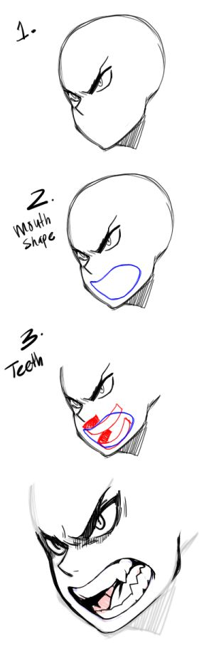 drawing teeth/mouths