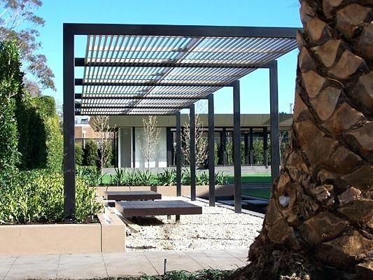 Simple Metal Pergola Design Steel Pergola Plans Steel