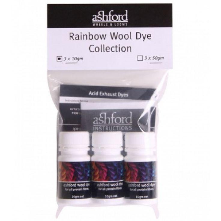Ashford Rainbow Dye Kit A