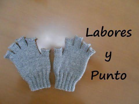 Aprende a tejer guantes con dedos cortos en dos agujas - Parte 1 de 3 - YouTube