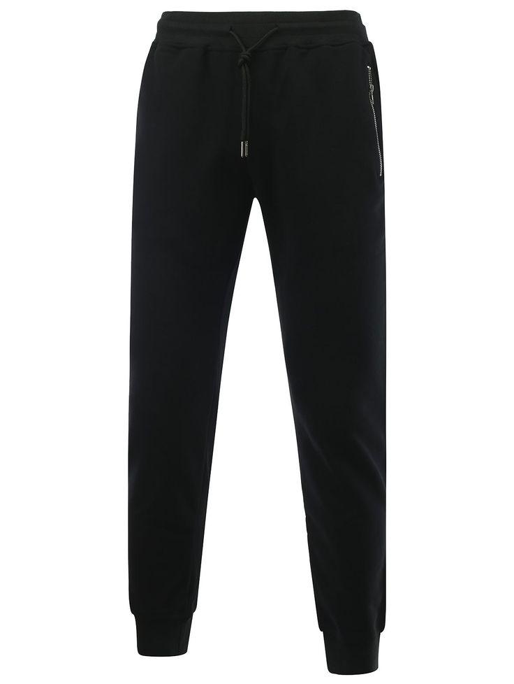 Lace Up Zipper Design Jogger Pants #men, #hats, #watches, #belts, #fashion, #style