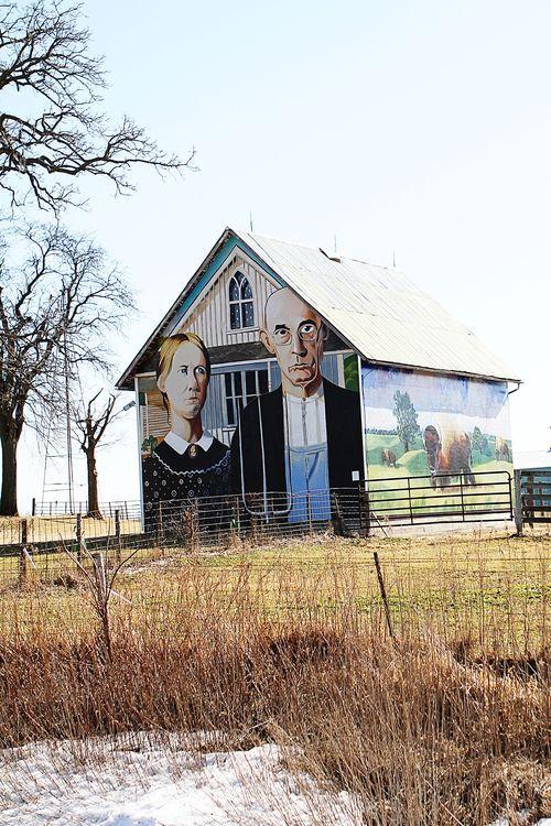 True American Gothic Wall Mural Barn Http
