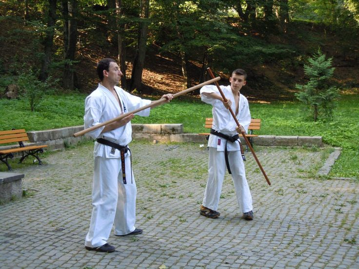 Antrenament Bo Karate Kyokushinkai in parc
