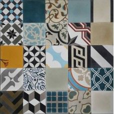 Moroccan Encaustic Cement Pattern Pre Sealed Random Mix