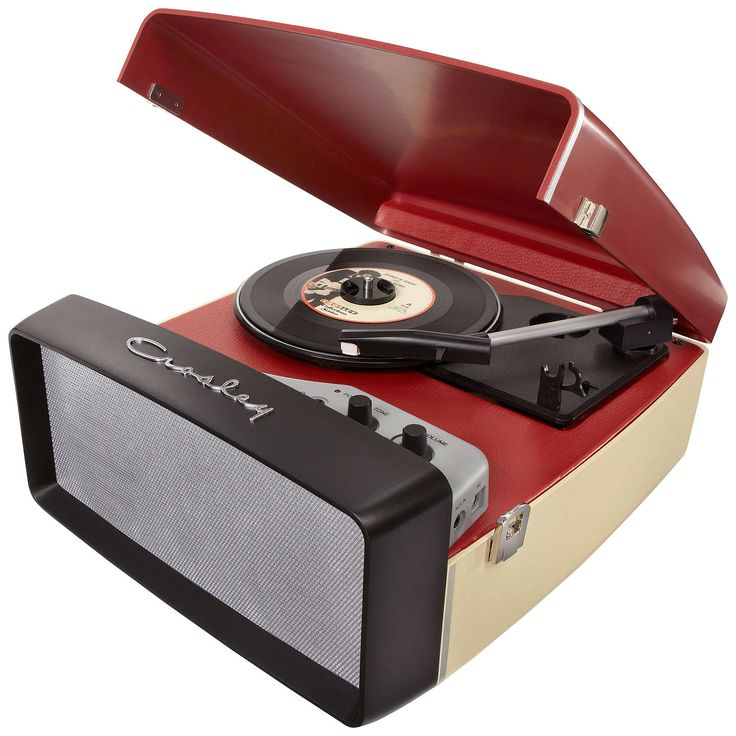 BuyCrosley Collegiate USB Turntable, Cream and Red Online at johnlewis.com