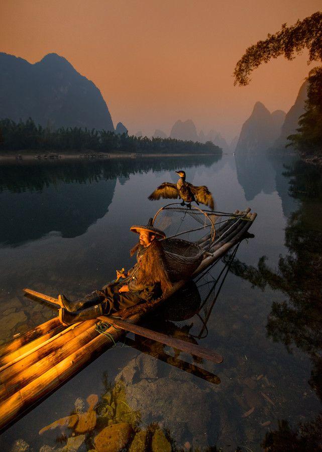 Cormorant fishing - Li River, Guilin area, China -- Anton Baklashov on 500px