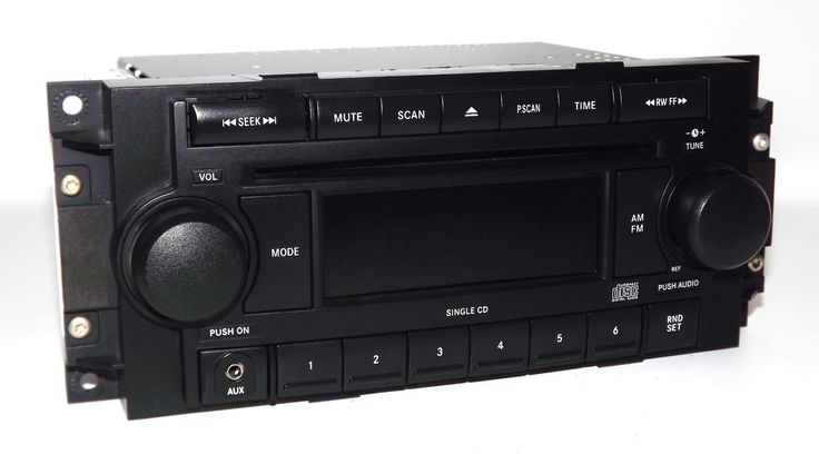 Jeep Dodge Chrysler Radio 2004-2010 AM FM CD Aux mp3 iPod Input P05064171AE REF. Professionally Remanufactured OEM Unit. Compatible Part Numbers: 05064171AG, 05064171AH, 05064173AI, 05091710AE, 05091710AG, 5064030AH, 5064030AL, 5064030AN, 5064071AD, 5064173AD, 5064173AG. 2005 2006 2007 2008 Jeep : 07-08 Compass, 07-08 Patriot, 06-07 Commander, 05-07 Grand Cherokee / 2005 2006 2007 2008 2009 Dodge : 07-09 Caliber, 06-08 Ram 1500, 06-08 Ram 2500, 06-08 Ram 3500, 06-07 Charger, 05-07 Dakota...