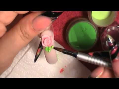 How to make 3D Roses  Acrilico Tercera Dimension - Uñas Acrilicas 3D
