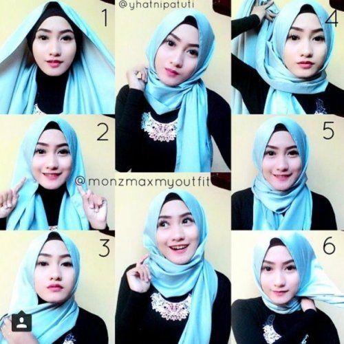 Tutorial Hijab Segi Empat Simple Tanpa Ciput Ninja Kursus Hijab Jilbab Sederhana Kerudung