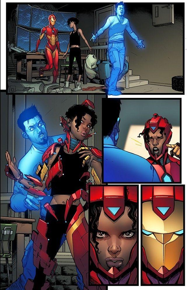 Invincible Iron Man || Riri Williams and Tony Stark | Iron heart marvel,  Iron man comic, Marvel comic character