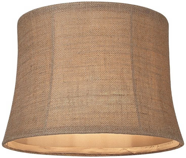 Universal lighting and decor natural burlap medium drum lamp shade spider