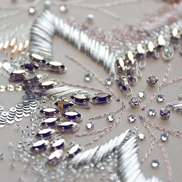 #handwork #embroidery #embroiderysequin ♦F&I♦