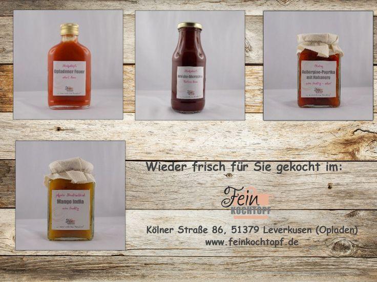 Die Grillsaison kann weitergehen 😋 mit Opladener Feuer, Whisky-Ahornsirup BBQ Sauce, Aubergine Paprika Chutney mit Habanero, pikanter Fruchtaufstrich Mango India #Feinkochtopf #Genuss #Genussmanufaktur #eigeneHerstellung #handgerührt #homemade #spicy #foodporn #Chutney #Barbecue #BBQ #Grillen #Sommer #Grillzeit #Ketchup #sweetandspicy #Opladen #Leverkusen #SeitenstrassenOpladen #JustLev #Sauce #Feinkost