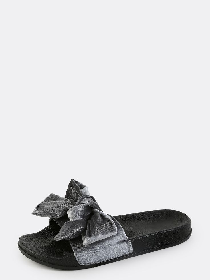 Shop Velvet Open Toe Slide Sandals GREY online. SheIn offers Velvet Open Toe Slide Sandals GREY & more to fit your fashionable needs.