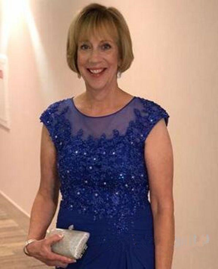 32131cfa2f9d Royal Blue Mother Of The Bride Dress Lace Appliques Chiffon Wedding Party  Custom#Bride#