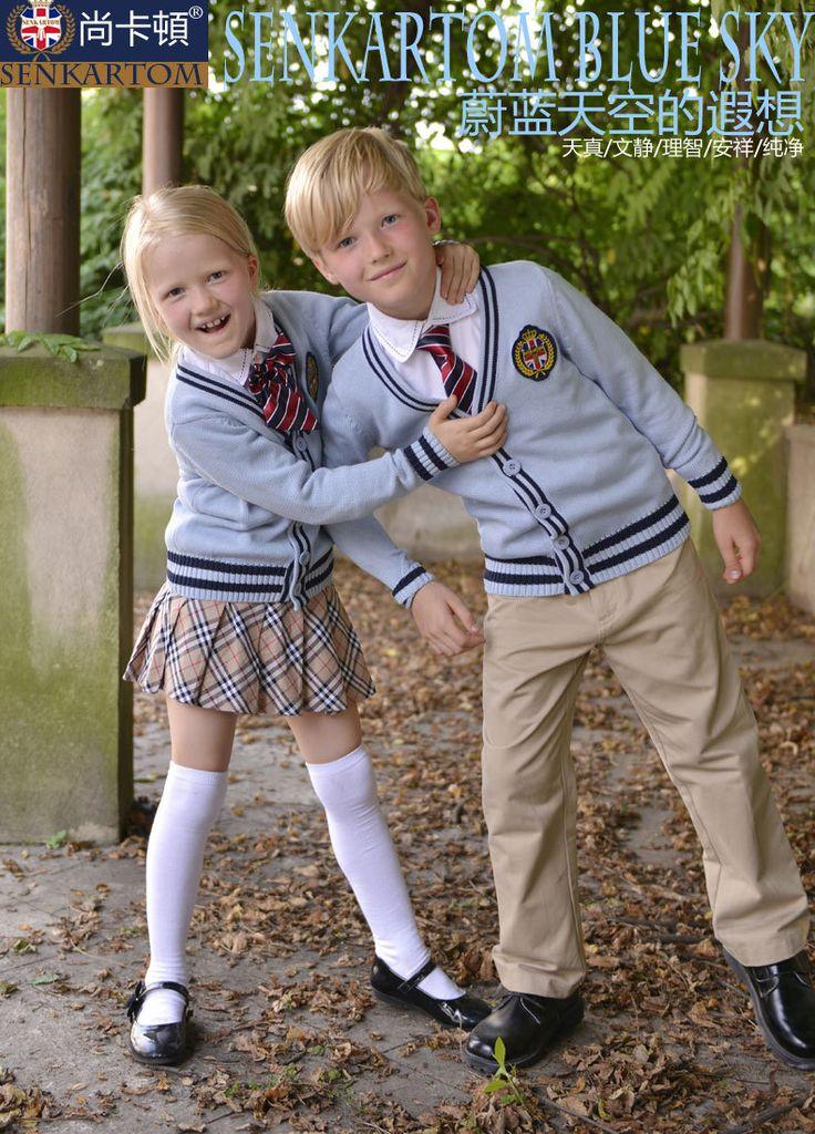 100% algodón 2013 niños y niñas de otoño bebé cardigan de lana, uniforme escolar los niños de la chaqueta y abrigo de envío gratis