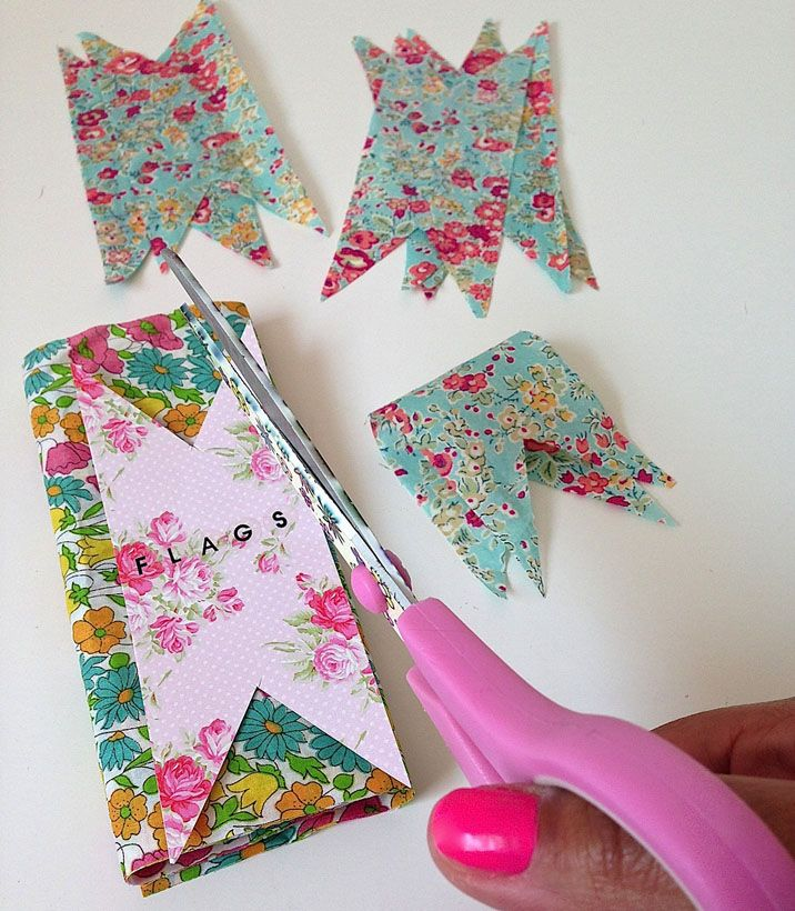Allison Sadler's Liberty Print Bunting and Jam Jar Wedding Decorations | Liberty.co.uk Blog