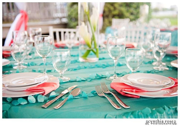 Tiffany Blue Coral Designed By A Seaside Wedding Events