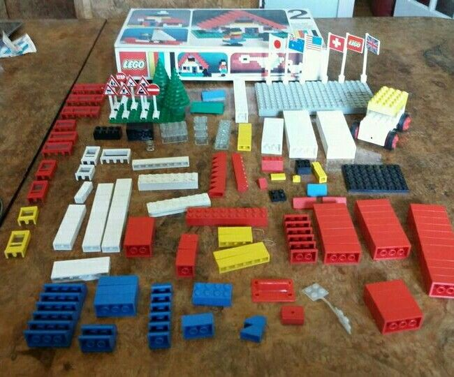 1960s Lego piece assortment