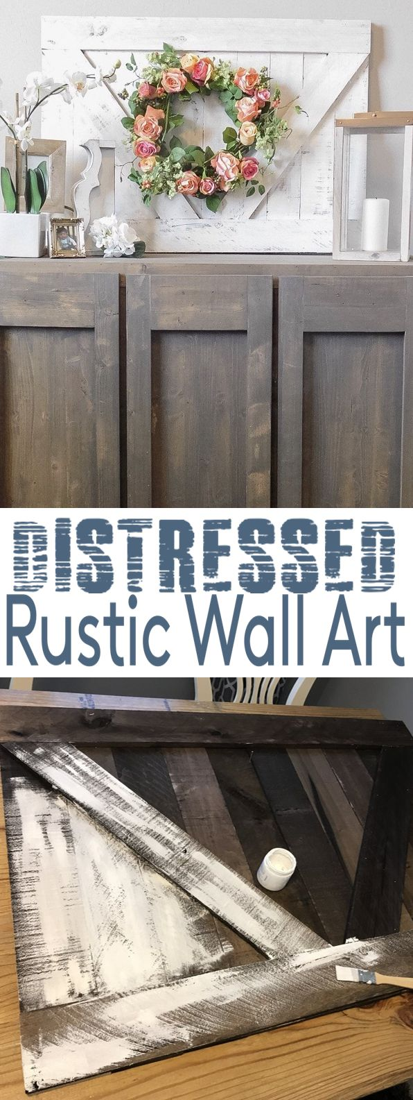 HOW TO distressed home wall decor art
